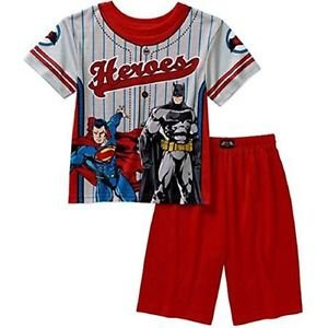 BATMAN, SUPERMAN Boy's Size 4/5 OR 8 Superheroes Pajama Shorts Set
