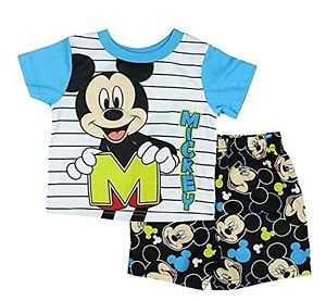 Mickey Mouse Boy's Size 3T, 4T OR 5T M is for Mickey Pajama Shorts Set