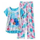 FINDING DORY Size 4 She's Fluent In Whale Dot Pajama Pants Set
