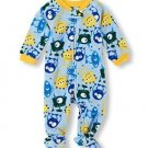 Toddler Boy's Size 3T OR 4T Fleece Footed MONSTER Blanket Pajama Sleeper