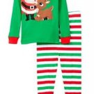 Rudolph Boy's Size 3T OR 4T Santa's Helper Christmas Pajama Set