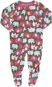 CARTER'S Girl's Size 5T ELEPHANT Fleece Footed Pajama Sleeper,
