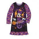 Minnie Mouse Girl's Size 2, 3 OR 4 HALLOWEEN Pumpkin Nightgown, Nightshirt