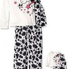 "DOLLIE & ME Girl's Size 4, 6, 8 OR 10 Horse Pony Pajama Set, With 18"" Doll Gown,"