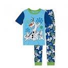 Disney FROZEN OLAF Snowman Size 3 Snowgies Cotton Pajama Set, PJ's
