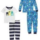 CARTER'S Boy's 3T 4-Piece Alien MONSTERS Cotton Pajama Set