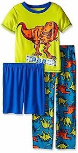 Boy's Size 8 OR 10/12 Tyrannosaurus Rex, T-Rex Dinosaur 3-Piece Pajama Set