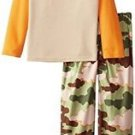 Boy's Size 6/7 Thermal Waffle Pajama Top and Flannel Camo Pants, PJ Set