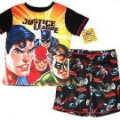 JUSTICE LEAGUE Boy's Size 6 OR 8 Super Heroes Batman Robin Pajama Shorts Set