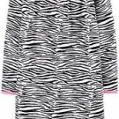 CARTER'S Girl's Size 2-3 Zebra Print Fleece Nightgown, Gown