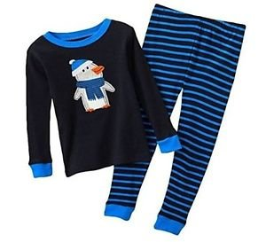 Carter's Boy's Size 3T Winter Penguin Cotton Striped Pajama Set