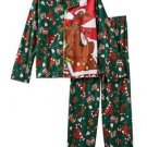 SCOOBY-DOO Christmas Holiday Boy's Size 10/12 Flannel Coat Pajama Set