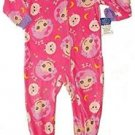 LALALOOPSY Girl's Size 4T Fleece Pajama Blanket Footed Sleeper