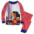 MICKEY MOUSE Boy's Size 3 OR 4 Racing Race Car Cotton Pajama Set