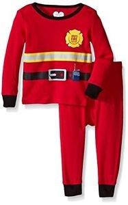 The Children's Place 0-3 Months Fireman Boys' 2 Piece Long Sleeve Pajama Set