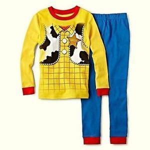 DISNEY TOY STORY Boy's Size 4 SHERIFF WOODY Full Costume Graphic Pajama Set