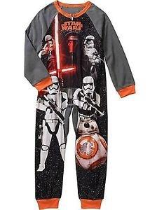 STAR WARS KYLO REN Boy's Size 8 OR 10/12 Fleece Blanket Pajama Sleeper