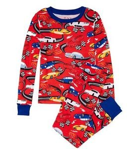 Boy's Size 7 Race Car Racing Pajama PJ Pants Set