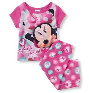 DISNEY MINNIE MOUSE Toddler Girl's Size 3T OR 4T Pajama Pants Set,