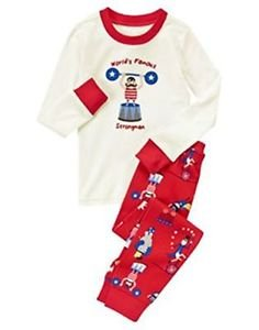 Gymboree Boy's Size 8 World's Famous Strongman Circus Pajama Set