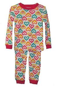Girl's Size 3T Toddler Two-Piece Hearts and Dots Pajama Pants Set