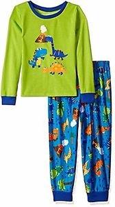 Toddler Boy's Size 3T OR 4T Prehistoric Dino Days Dinosaur Jersey Pajama Set