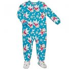 Carter's Girl's 5T Blue Holiday Polar Bear Fleece Blanket Pajama Sleeper