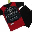 LEGO STAR WARS Boy's Size 6 Darth Vader Pajama Shorts Set