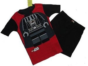 LEGO STAR WARS Boy's Size 6 Darth Vader Pajama Shorts Set