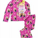 DESPICABLE ME Bob Minion TRES CUTE Girl's Size 6/6X Coat Flannel Pajama Set