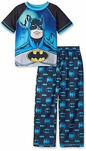 Boy's Size 8 BATMAN Superhero, Polyester Jersey Pajama Set