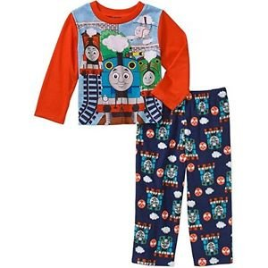 Thomas and Friends Steam Engine Boy's 3T OR 4T Polyester Jersey Pajama Set