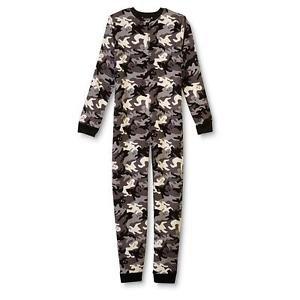 Boy's Size 10/12 Halloween Camo Ghost Fleece Footless Pajama Sleeper