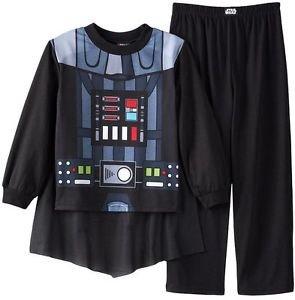 STAR WARS DARTH VADER CAPED PJ SET Boy's Size 6, 8 OR 10 Pajama Pants Set