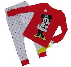DISNEY Classic MINNIE MOUSE Dot Girl's Size 4 Pajama Set