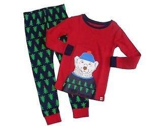 Baby Gap Boy's Size 3 Winter Polar Bear Tree Print Pajama Pants Set