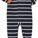 Carter's Boy's 5T Striped Tiger Vehicles Fleece Footed Pajama Sleeper