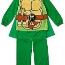 TMNT Teenage Mutant Ninja Turtles Boys Size 2T Green Pajama Set with Cape