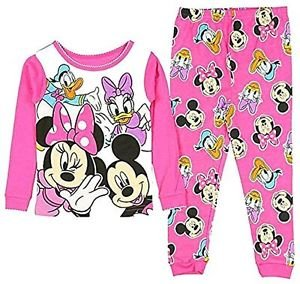 DISNEY MINNIE, MICKEY And DAISY, DONALD DUCK Girl's 3T, 4T OR 5T Pajama Set