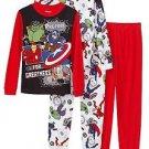 Marvel Avengers Boy's 6, 8 OR 10 4-piece Pajama Set, Thor, Hulk, Ironman PJ'S