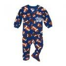 Toddler Boy's 3T Grandpa's FOOTBALL MVP Footed Blanket Pajama Sleeper