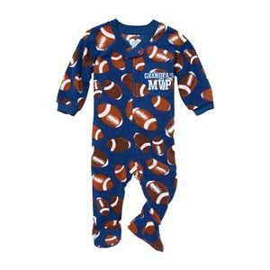 Toddler Boy's 3T Grandpa's FOOTBALL MVP Footed Blanket Pajama Sleeper