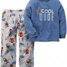 CARTER'S Boy's Size 5 COOL DUDE Skiing Monkey Fleece Pajama Set