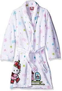 HELLO KITTY Girl's 6/6X, 7/8 OR 10/12 Luxe Fleece Winter Bathrobe, Robe