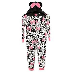 MINNIE MOUSE Girl's Size 4 Hooded Fleece Blanket Sleeper