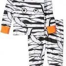 Baby Boy's Size 0-3 Months Glow-in-the-Dark Halloween Mummy Pajama Set