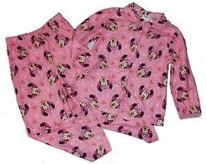 DISNEY MINNIE MOUSE Size 5T Girl's Heart Jewels Flannel Pajama Set