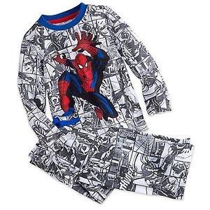 DISNEY SPIDER-MAN Boy's 5/6 OR 7/8 Comic Graphic Cotton Pajama Pants Set