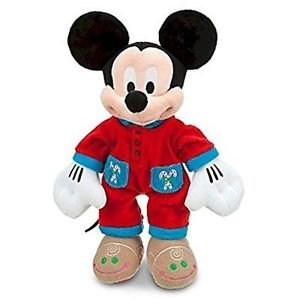 Disney Mickey Mouse Plush - Holiday Pajamas Candy Cane Gingerbread
