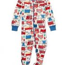 Toddler Boy's 4T Firetruck Print Cotton Footed Pajama Sleeper